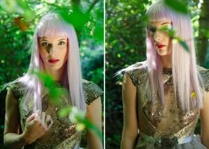 Beautiful light enchanted woods portrait
