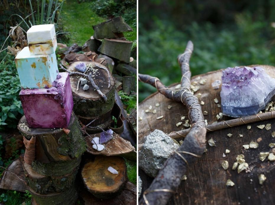 Quartz stone wedding woodland shoot_0001