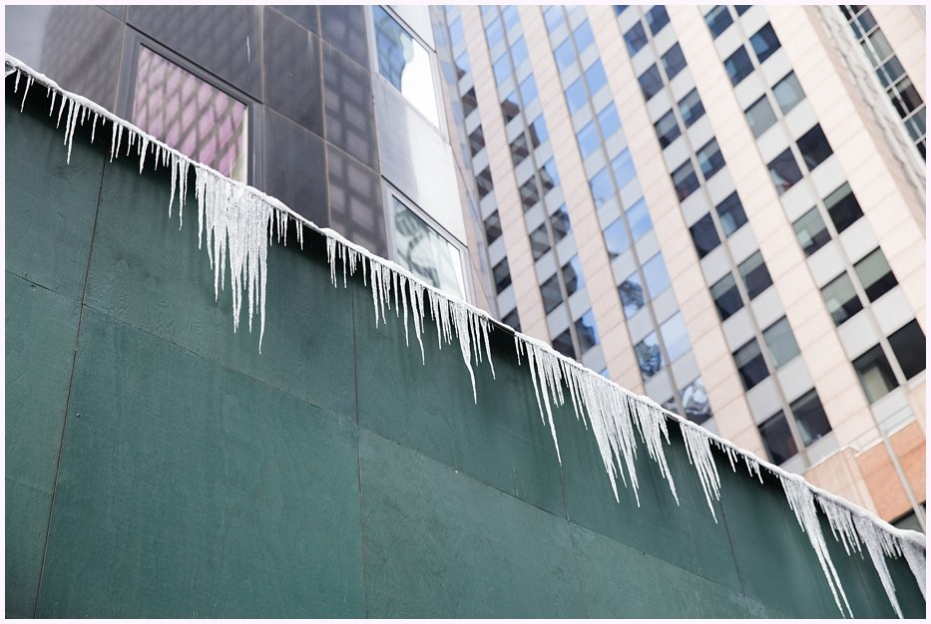 icicles New york city sharon cooper