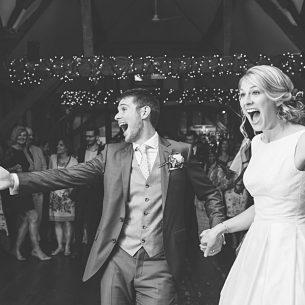 bride groom first dance Old Luxters Barn wedding Oxford wedding photographer