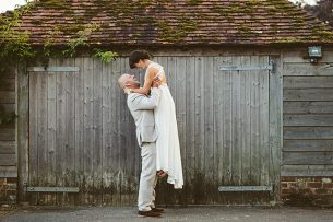 Boho Bride Sussex wedding Grittenham Barn
