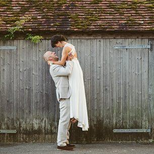 Boho Bride Sussex wedding Grittenham Barn