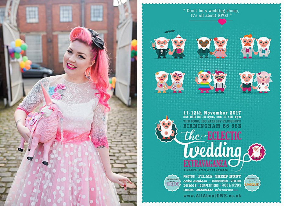 wedding-photographer-birmingham-alternative-ewe-flyer-pink-haired-bride