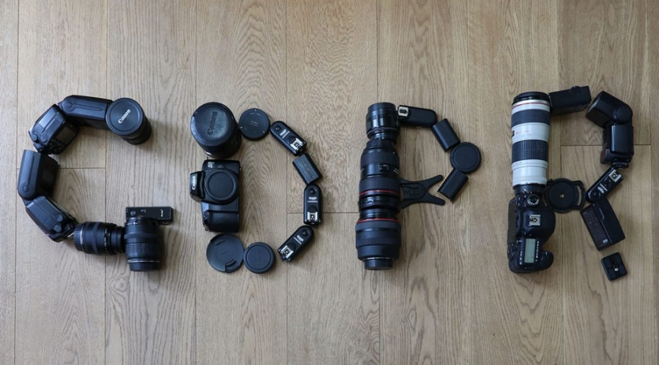 Photo of GDPR made out of camera kit Canon By Sharon Cooper